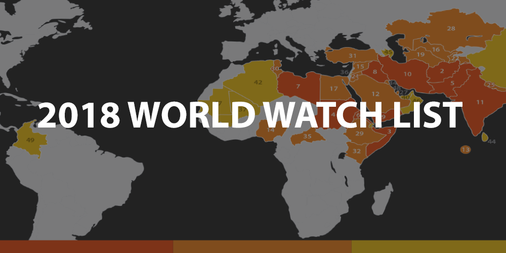 A Focus On The Top 10 Countries In The World Where It Is Most Difficult To Live As A Christian.