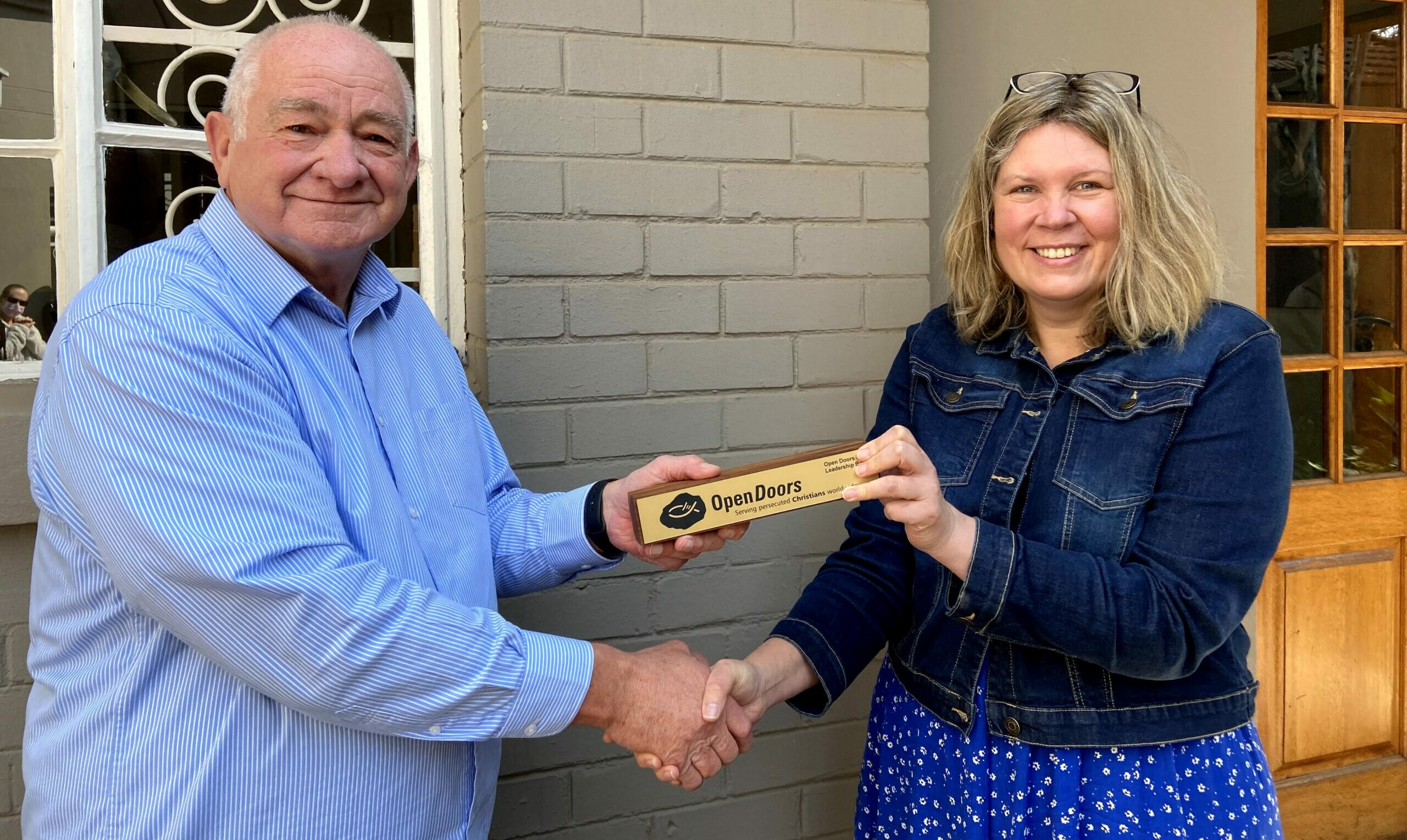 Baton Handed Over At Open Doors Southern Africa